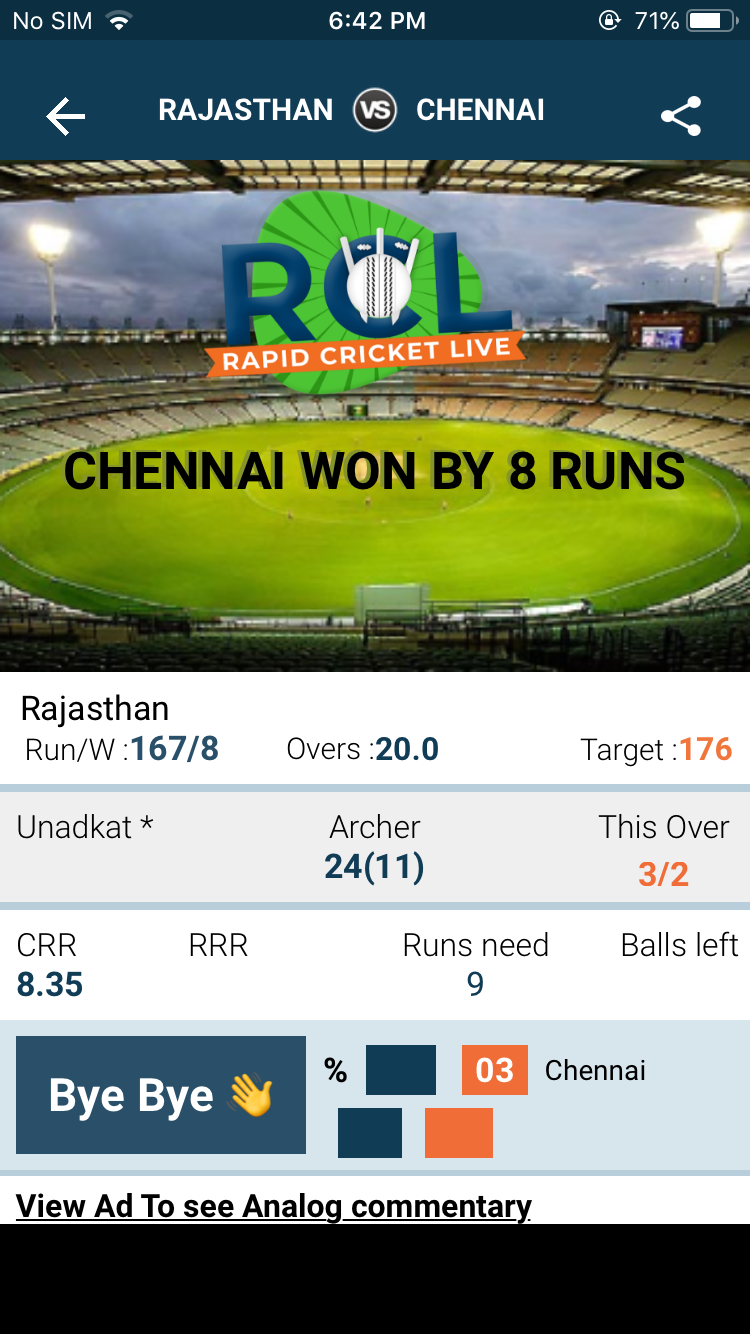 Rapid Cricket Live